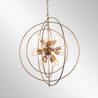 Nebula Antique Bronze 16-Light Orb Chandelier by Kosas Home