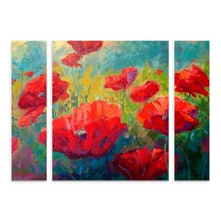 Marion Rose 'Field of Poppies' Multi Panel Art Set