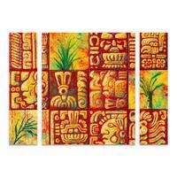 Marion Rose 'Mayan Titles' Multi Panel Art Set