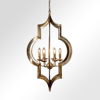 Serena Rustic Gold 6-Light Candelabra Chandelier by Kosas Home