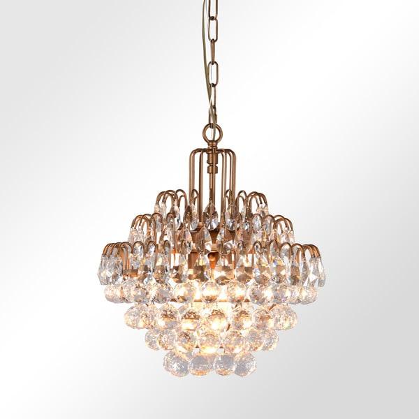 Shop thayer antique brass 3 light tear drop crystal chandelier by thayer antique brass 3 light tear drop crystal chandelier by kosas home aloadofball Gallery
