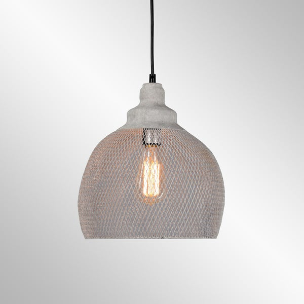 Osiris Rustic Iron Mesh Rustic Grey Large Pendant by Kosas Home