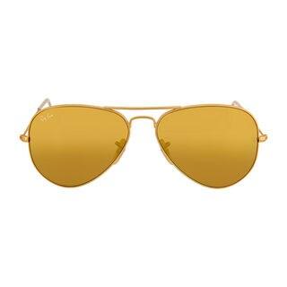 Ray Ban Aviator RB3025 Unisex Gold Frame Yellow Flash Lens Sunglasses