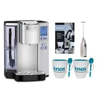 Cuisinart SS10 Premium Single Serve Coffeemaker with Knox Mugs & Frother w/ Descaler