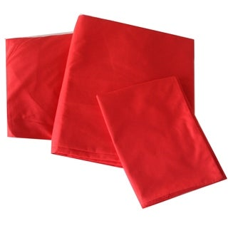 Solid Red Twin-size Sheet Set