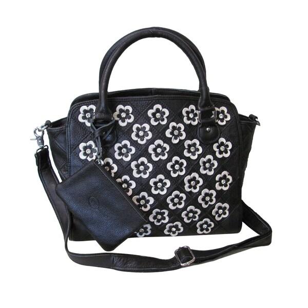 c52974f20b33 Shop Amerileather Stellix Leather Handbag - On Sale - Free Shipping ...