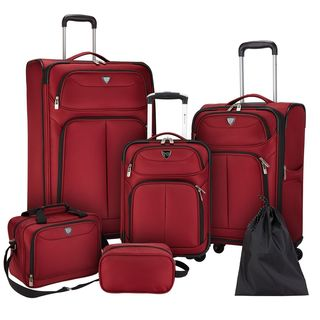 Travelers Club Hartford 6-Piece Expandable Spinner Luggage Set