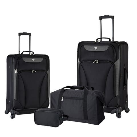 Travelers Club Augusta 4-Piece Expandable Spinner Luggage Set