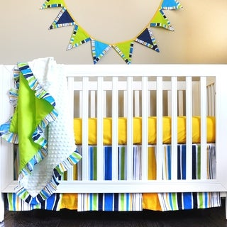Pam Grace Creations JUMPING JACK 5 Piece Baby Bedding with Bumper