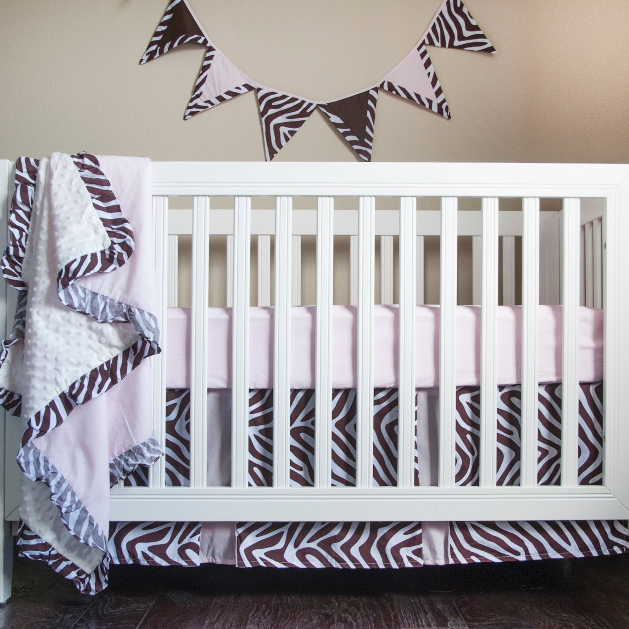 Pam Grace Creations ZOE Zebra 5 Piece Baby Bedding Set wi...