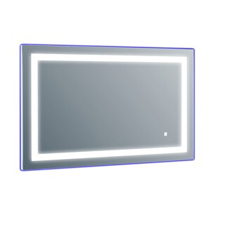 Eviva Silvertone Metal Lighted Backlit LED Wall-mounted Mirror with Frame