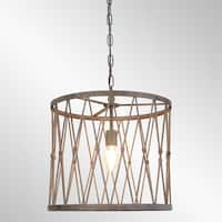 Barlow Rustic Antique Bronze Large Pendant by Kosas Home