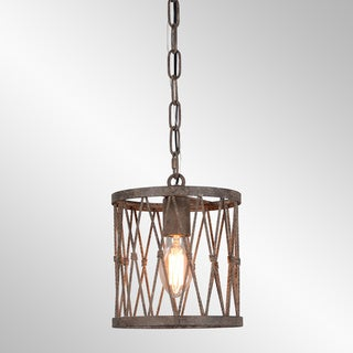 Barlow Rustic Antique Bronze Small Pendant by Kosas Home