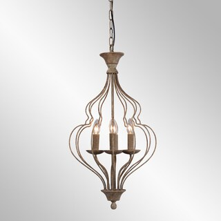 Winona Rustic Antique Bronze 4-Light Chandelier by Kosas Home