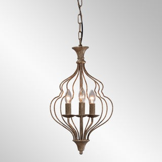 Winona Rustic Antique Bronze 3-Light Chandelier by Kosas Home