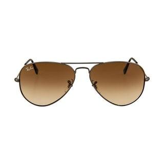 Ray Ban RB3025 Aviator Gradient RB3025 Unisex Gunmetal Frame Light Brown Lens Sunglasses