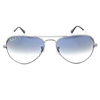 Ray Ban Polarized RB3025 Aviator Gradient RB3025 Unisex Gunmetal Frame Blue/Grey Lens Sunglasses