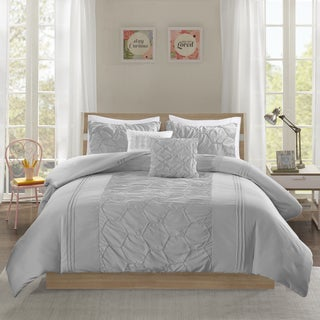 Intelligent Design Shayda Grey 5-piece Duvet Cover Set