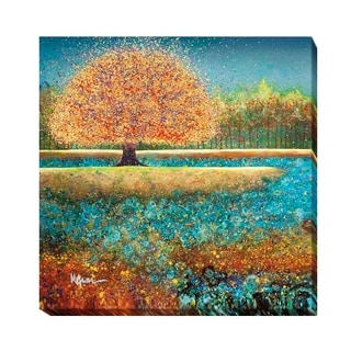 Melissa Graves' Jewel River Multicolored Gallery-wrapped Canvas Giclee Art
