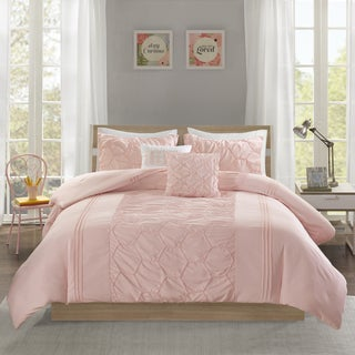 Intelligent Design Shayda Blush MIcrofiber 5-piece Comforter Set