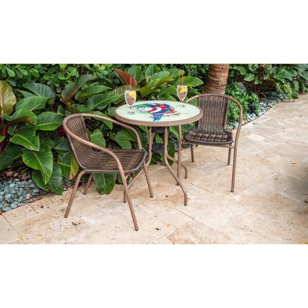 Shop Panama Jack Café 3 Pc Parrot Bistro Set