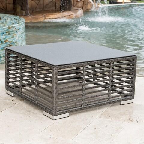 Panama Jack Graphite Grey Aluminum/Resin Square Coffee Table