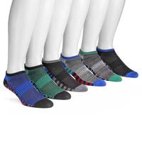 MUK LUKS® Men's 6 Pair Pack No Show Compression Arch Socks