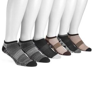 MUK LUKS® Men's 6 Pair Pack No Show Compression Arch Socks