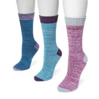 MUK LUKS® Women's 3 Pair Pack Boot Socks