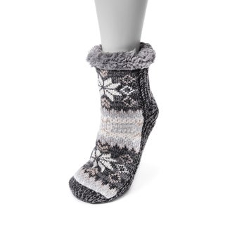 MUK LUKS® Women's 1-Pair Pieced Cabin Socks