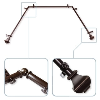 """Link to InStyleDesign Eugene 13/16"""" Bay Window Curtain Rod - 20-36 inches, 38-72 inches Similar Items in Decorative Accessories"""