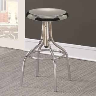 Modern Sleek Design Chrome Adjustable Swivel Bar Stool
