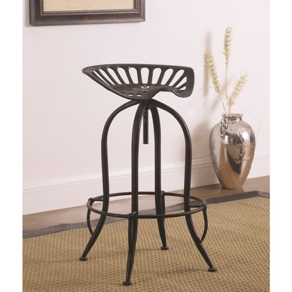 Enjoyable Shop Distressed Black Brushed Copper Tractor Design Seat Gmtry Best Dining Table And Chair Ideas Images Gmtryco