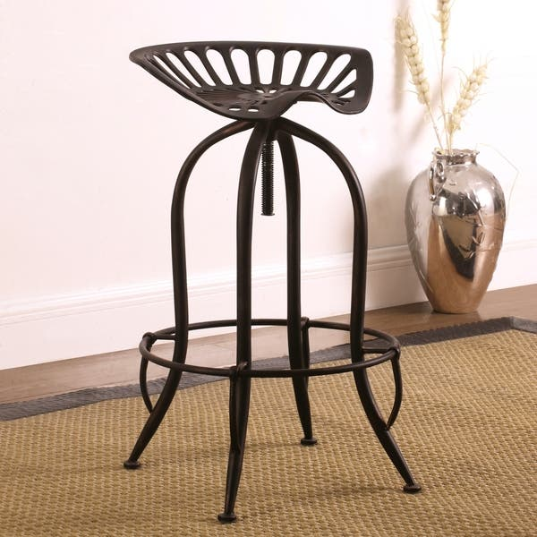 Fantastic Shop Distressed Black Brushed Copper Tractor Design Seat Ibusinesslaw Wood Chair Design Ideas Ibusinesslaworg
