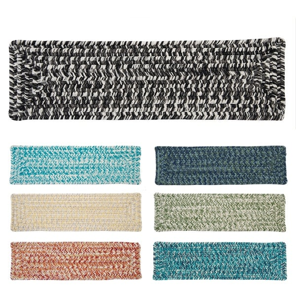 Vibrant Tweed Reversible Braided Stair Tread (Single) - 8 Inch x 28 Inch