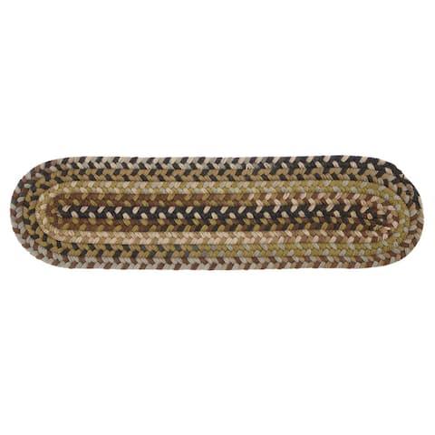 Rustic Wool Oval Braided Stair Tread (Single)