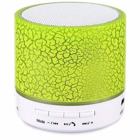 Wireless LED Portable Mini Bluetooth Speaker Crack Pattern Support Micro SD/TF Card / USB / FM