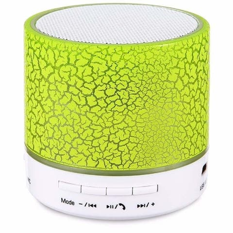 Wireless LED Portable Mini Bluetooth Speaker Crack Pattern Support Micro SD/TF Card / USB / FM