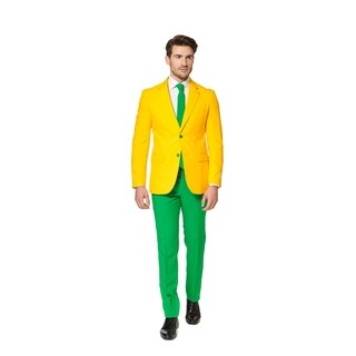 OppoSuits Men's Green and Gold Suit