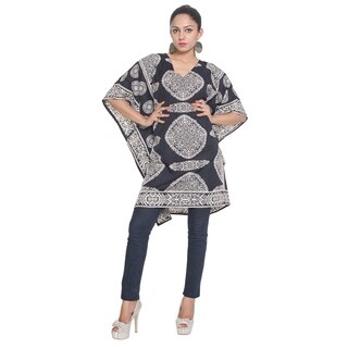 Womens Plus Size Dresses Casual Blouse Kaftan Tunic Tops