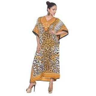 Long Maxi Animal Print Kaftan Plus Size