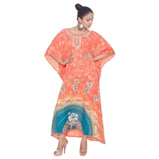 Caftan Dress Long Maxi Floral Print Plus Size