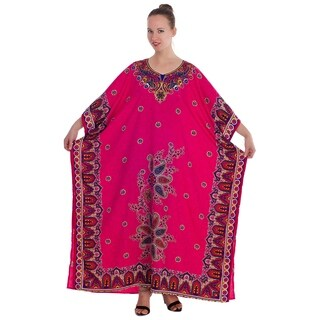 Magento Colored Long and Trendy Printed Caftan