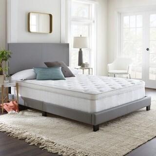 Sleep Sync 12-inch King Cooling GelLux Euro Top Hybrid Mattress