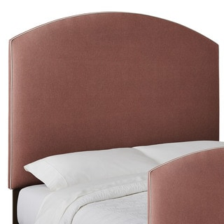 Humble + Haute Custom Contrasting Piping Curved Upholstered Headboard