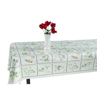 Berrnour Home Indoor & Outdoor 55x102 Tablecloth with NonWoven Backing