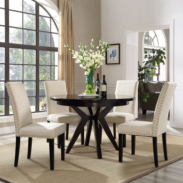 Shop Upholstered High Back Dining Chair With Nailhead Trim