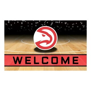 "NBA - Atlanta Hawks 18""x30"" Rubber Door Mat"