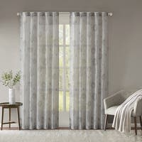 Madison Park Irie Printed Lightweight Sheer Crushed Curtain Panel Pair