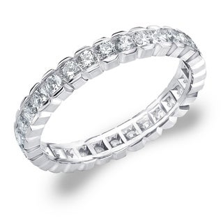 Amore 10K White Gold 1.0 CTTW Eternity Diamond Wedding Ring - White I-J